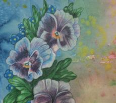 Pansies by Cheryl Wilson