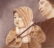 Vietnam Woman and Child by Denise MacDonald