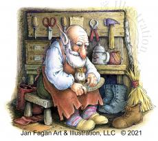 Shoemaker Gnome by Jan Fagan