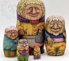 Fae Family Nesting Dolls by Jan Fagan