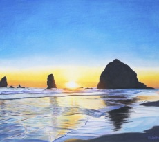 Cannon Beach Sunset by Jeffrey Marks