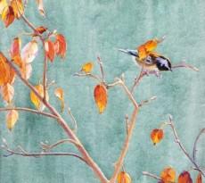 Autumn Chickadee by John Ursillo