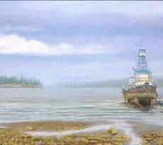 Tug Eagle Under Repair by John Ursillo