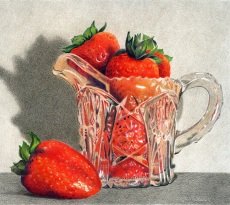 Strawberries in a Small Pitcher by Kay Dewar