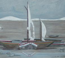 """Boats Ashore by Cheryl Wilson"