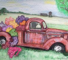 Sauvie Island Truck by Cheryl Wilson