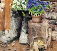 Boots and Blooms  by Jennie Rogers