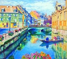 Enjoying Annecy, France by Judy Moritz
