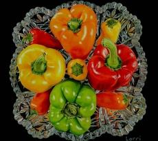 Elegant Peppers by Lorri Dixon