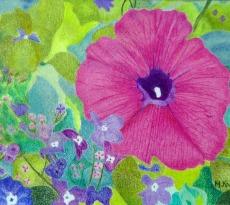 Lonely Petunia by Michaelinda Kaestner