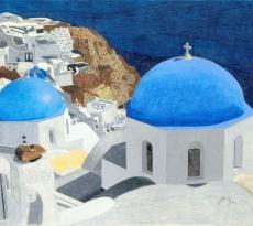 Santorini Blue #2 by Mike Flynn