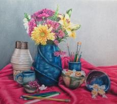 Fruits of a Ceramic Class by Pam Gassman
