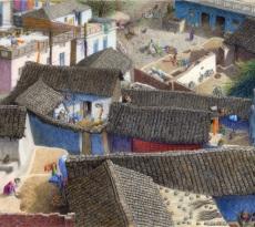 Alipur Village by Pamela Belcher